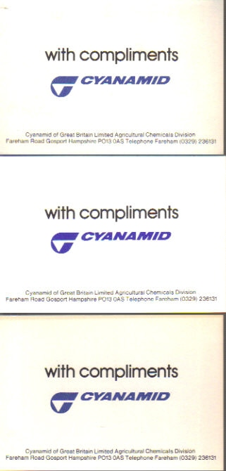 Observer's Cyanamid Book of Compliment cards